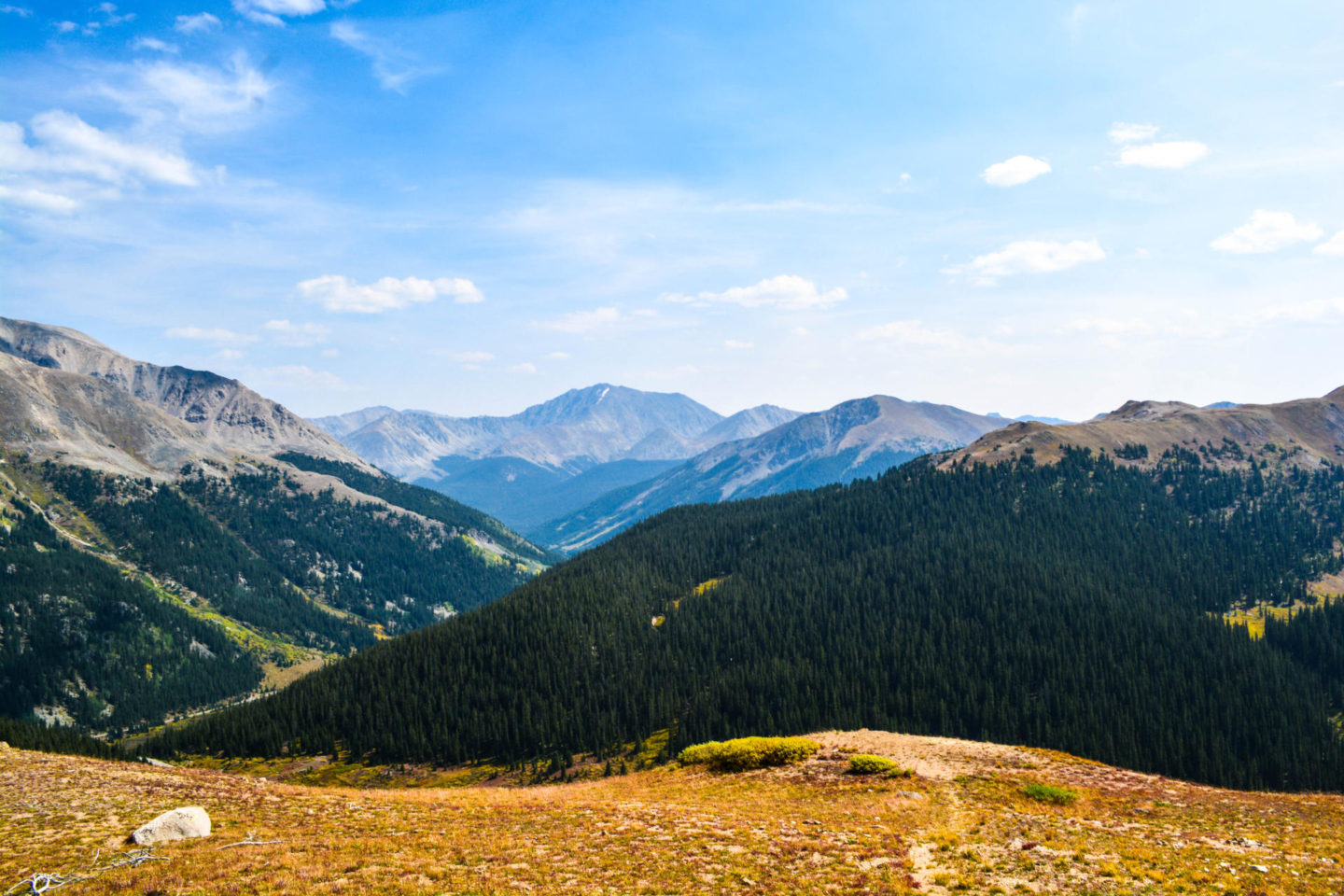 View from the lookout point at Independence Pass