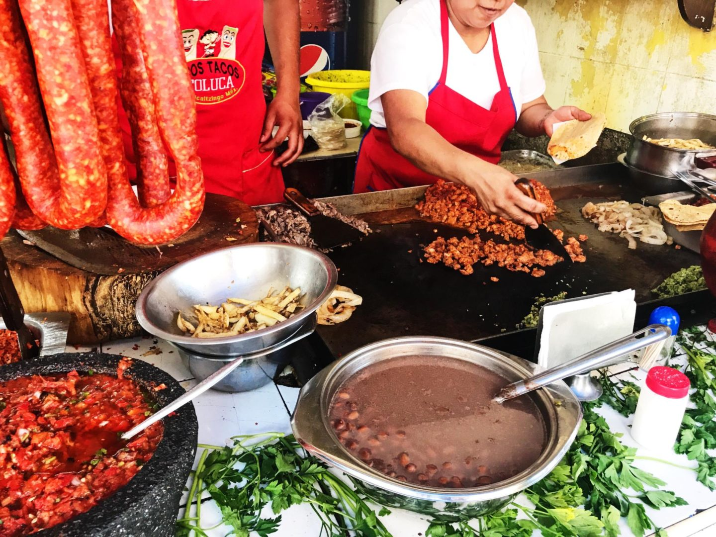Chorizo Mexico City Street Food