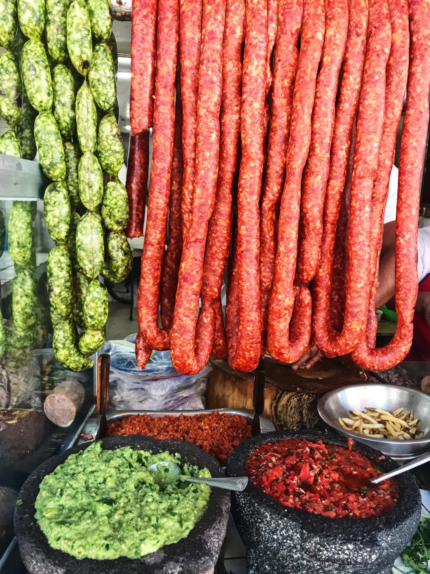 Green and Red Chorizo